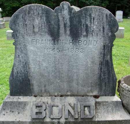 BOND, FRANKLIN H - Montgomery County, New York | FRANKLIN H BOND - New York Gravestone Photos
