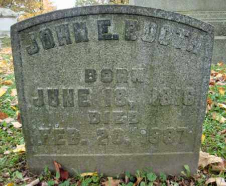 BOOTH, JOHN E - Montgomery County, New York | JOHN E BOOTH - New York Gravestone Photos