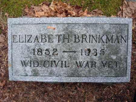 BRINKMAN, ELIZABETH - Montgomery County, New York | ELIZABETH BRINKMAN - New York Gravestone Photos