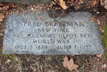 BRINKMAN (WWI), FRED - Montgomery County, New York | FRED BRINKMAN (WWI) - New York Gravestone Photos