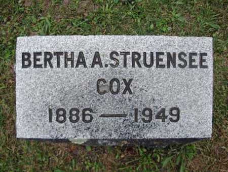 STRUENSEE COX, BERTHA A - Montgomery County, New York | BERTHA A STRUENSEE COX - New York Gravestone Photos