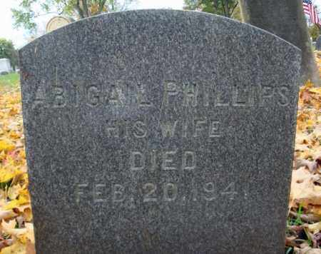 PHILLIPS, ABIGAIL - Montgomery County, New York | ABIGAIL PHILLIPS - New York Gravestone Photos