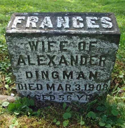 DINGMAN, FRANCES - Montgomery County, New York | FRANCES DINGMAN - New York Gravestone Photos
