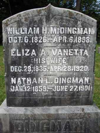 VANETTA, ELIZA A - Montgomery County, New York | ELIZA A VANETTA - New York Gravestone Photos