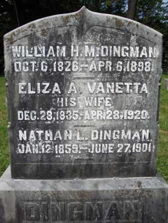 VANETTA DINGMAN, ELIZA A - Montgomery County, New York | ELIZA A VANETTA DINGMAN - New York Gravestone Photos