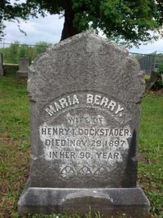 BERRY DOCKSTADER, MARIA - Montgomery County, New York | MARIA BERRY DOCKSTADER - New York Gravestone Photos