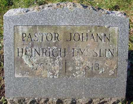 DYSSLIN, JOHANN HEINRICH - Montgomery County, New York   JOHANN HEINRICH DYSSLIN - New York Gravestone Photos