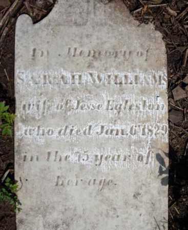 WILLIAMS, SARAH - Montgomery County, New York   SARAH WILLIAMS - New York Gravestone Photos