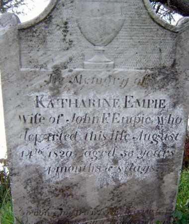 EMPIE, KATHARINE - Montgomery County, New York | KATHARINE EMPIE - New York Gravestone Photos