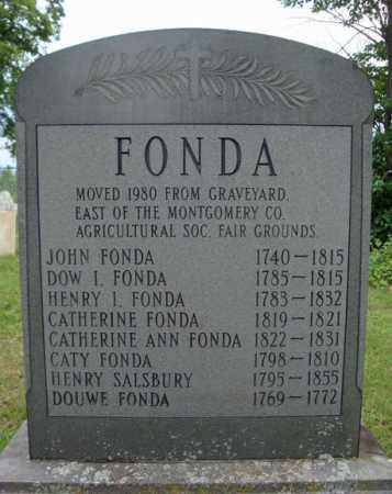 FONDA, CATHERINE - Montgomery County, New York | CATHERINE FONDA - New York Gravestone Photos