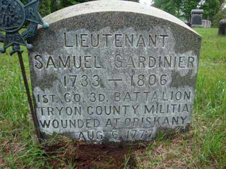GARDINIER (RW), SAMUEL - Montgomery County, New York | SAMUEL GARDINIER (RW) - New York Gravestone Photos