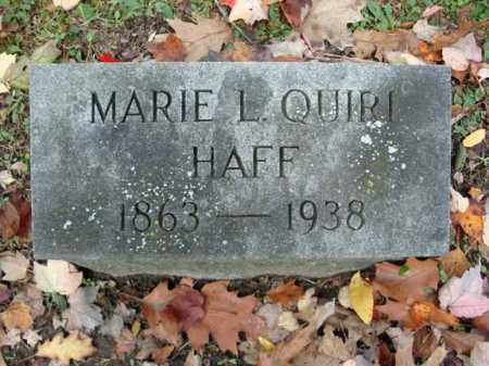 HAFF, MARIE L - Montgomery County, New York | MARIE L HAFF - New York Gravestone Photos