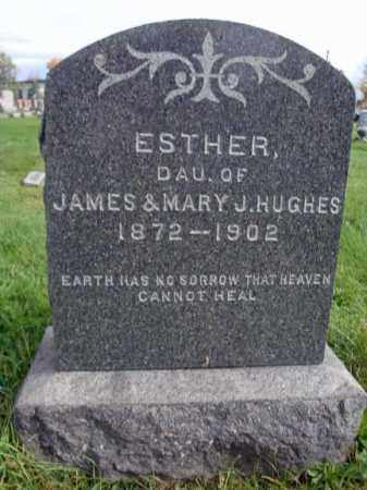 HUGHES, ESTHER - Montgomery County, New York   ESTHER HUGHES - New York Gravestone Photos
