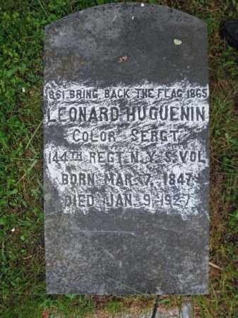 HUGUENIN (CW), LEONARD - Montgomery County, New York | LEONARD HUGUENIN (CW) - New York Gravestone Photos