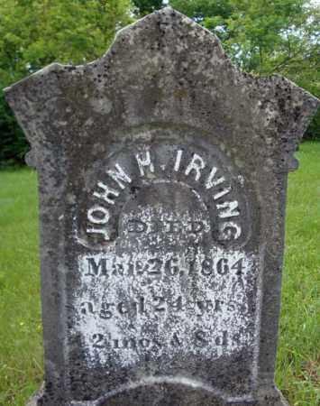 IRVING, JOHN H - Montgomery County, New York | JOHN H IRVING - New York Gravestone Photos