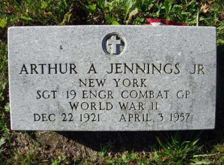 JENNINGS, ARTHUR A - Montgomery County, New York   ARTHUR A JENNINGS - New York Gravestone Photos