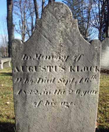KLOCK, AUGUSTUS - Montgomery County, New York | AUGUSTUS KLOCK - New York Gravestone Photos
