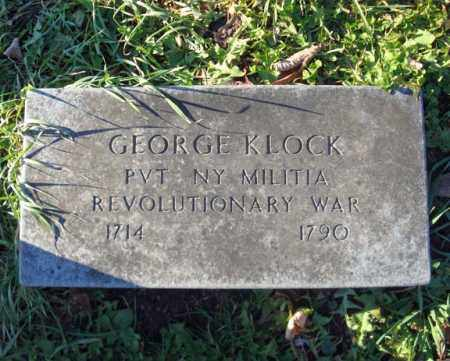 KLOCK, GEORGE - Montgomery County, New York | GEORGE KLOCK - New York Gravestone Photos