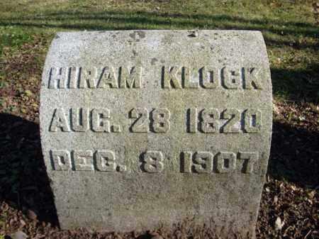 KLOCK, HIRAM - Montgomery County, New York | HIRAM KLOCK - New York Gravestone Photos