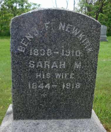 NEWKIRK, SARAH M - Montgomery County, New York | SARAH M NEWKIRK - New York Gravestone Photos