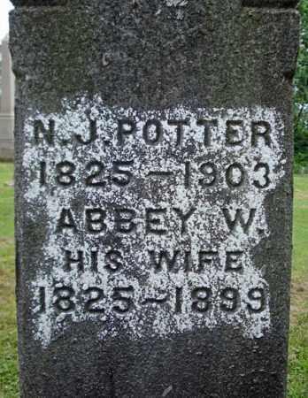 POTTER, N J - Montgomery County, New York | N J POTTER - New York Gravestone Photos