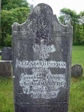 PUTMAN, ELIZABETH - Montgomery County, New York | ELIZABETH PUTMAN - New York Gravestone Photos