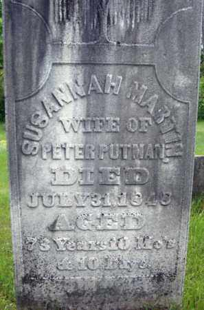 MARTIN PUTMAN, SUSANNAH - Montgomery County, New York | SUSANNAH MARTIN PUTMAN - New York Gravestone Photos