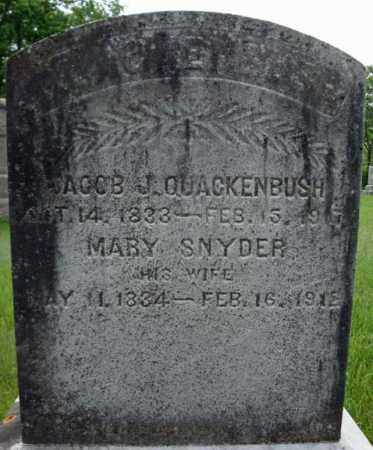 SNYDER QUACKENBUSH, MARY - Montgomery County, New York | MARY SNYDER QUACKENBUSH - New York Gravestone Photos