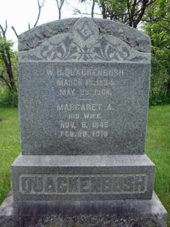 QUACKENBUSH, MARGARET A - Montgomery County, New York | MARGARET A QUACKENBUSH - New York Gravestone Photos