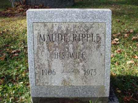 RIPPLE, MAUDE - Montgomery County, New York | MAUDE RIPPLE - New York Gravestone Photos