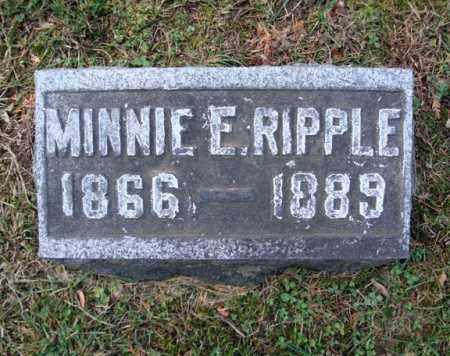 RIPPLE, MINNIE E - Montgomery County, New York   MINNIE E RIPPLE - New York Gravestone Photos