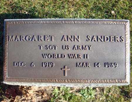 SANDERS (WWII), MARGARET ANN - Montgomery County, New York   MARGARET ANN SANDERS (WWII) - New York Gravestone Photos