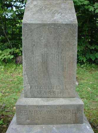 SNYDER, ADALINE L - Montgomery County, New York | ADALINE L SNYDER - New York Gravestone Photos