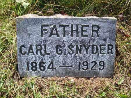 SNYDER, CARL G - Montgomery County, New York | CARL G SNYDER - New York Gravestone Photos