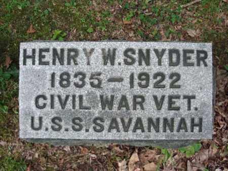 SNYDER, HENRY W - Montgomery County, New York | HENRY W SNYDER - New York Gravestone Photos