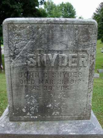 SNYDER, JOHN C - Montgomery County, New York | JOHN C SNYDER - New York Gravestone Photos