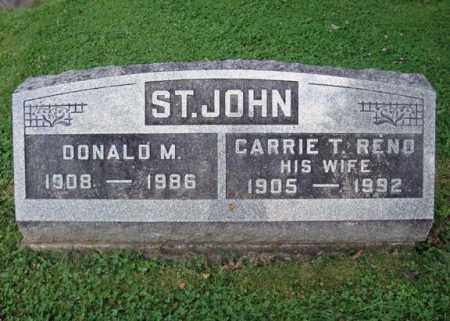 RENO ST JOHN, CARRIE T - Montgomery County, New York | CARRIE T RENO ST JOHN - New York Gravestone Photos