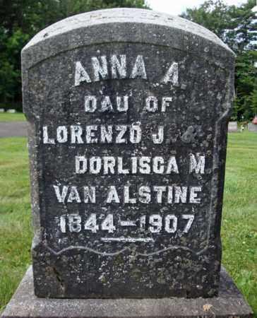VAN ALSTINE, ANNA A - Montgomery County, New York   ANNA A VAN ALSTINE - New York Gravestone Photos
