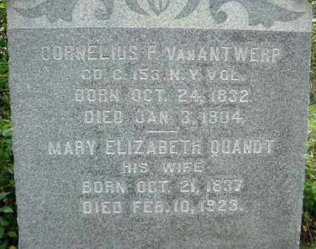 QUANDT VAN ANTWERP, MARY ELIZABETH - Montgomery County, New York | MARY ELIZABETH QUANDT VAN ANTWERP - New York Gravestone Photos
