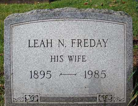 FREDAY WATKINS, LEAH N - Montgomery County, New York | LEAH N FREDAY WATKINS - New York Gravestone Photos