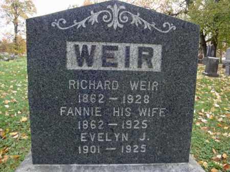 WEIR, FANNIE - Montgomery County, New York | FANNIE WEIR - New York Gravestone Photos