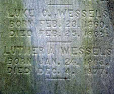 WESSELS, LUTHER A - Montgomery County, New York | LUTHER A WESSELS - New York Gravestone Photos