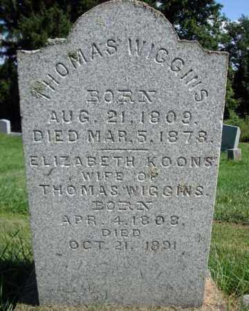 WIGGINS, ELIZABETH - Montgomery County, New York | ELIZABETH WIGGINS - New York Gravestone Photos