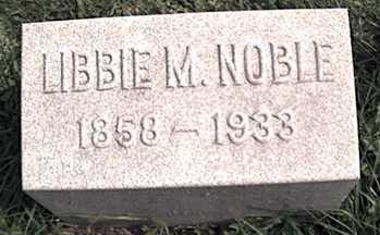 NOBLE, LIBBIE M. - Niagara County, New York   LIBBIE M. NOBLE - New York Gravestone Photos