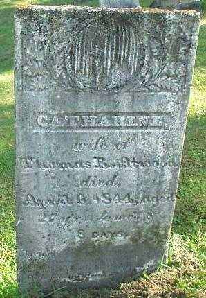 ATWOOD, CATHARINE - Oneida County, New York | CATHARINE ATWOOD - New York Gravestone Photos