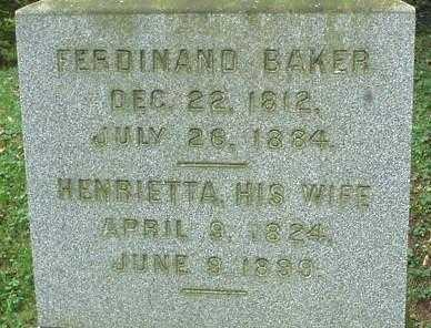 BAKER, FERDINAND - Oneida County, New York | FERDINAND BAKER - New York Gravestone Photos