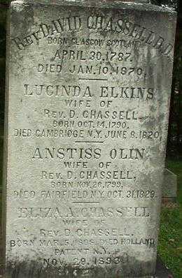 CHASSELL, ANSTISS - Oneida County, New York | ANSTISS CHASSELL - New York Gravestone Photos