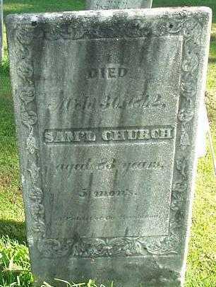 CHURCH, SAMUEL - Oneida County, New York | SAMUEL CHURCH - New York Gravestone Photos
