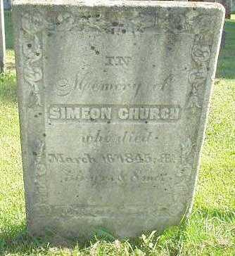CHURCH, SIMEON - Oneida County, New York | SIMEON CHURCH - New York Gravestone Photos