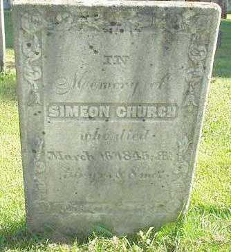 CHURCH, SIMEON - Oneida County, New York | SIMEON CHURCH - New York Gravestone Photos